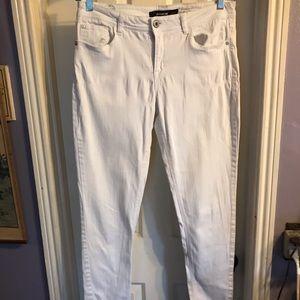 Jordache white denim skinny jeans Sz 12